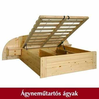 fenyő ágyneműtartós ágyak