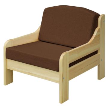 RIO barna fenyő fotel 60x55 cm