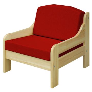 RIO bordó fenyő fotel 60x55 cm