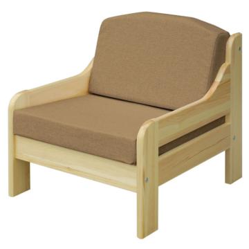 RIO cappucino fenyő fotel 60x55 cm