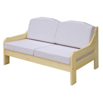 RIO beige fenyő 2 személyes kanapé 120x55 cm