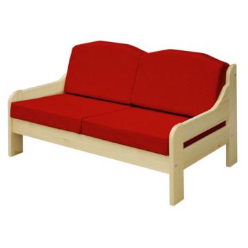 RIO bordó fenyő 2 személyes kanapé 120x55 cm