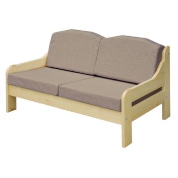RIO szürke fenyő 2 személyes kanapé 120x55 cm