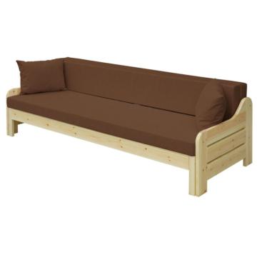 RiO barna fenyő nagyobbítható kanapé 200x140 cm
