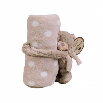 Naturtex Szürke baby pléd Teddy macival 75x100 cm