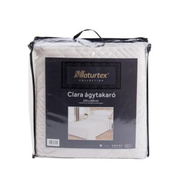 Naturtex CLARA bézs ágytakaró, kocka steppeléssel 235x250 cm