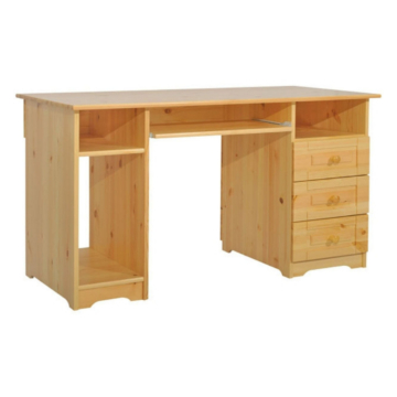 MARTIN 3 fiókos kombi fenyő iróasztal 77x140x65 cm