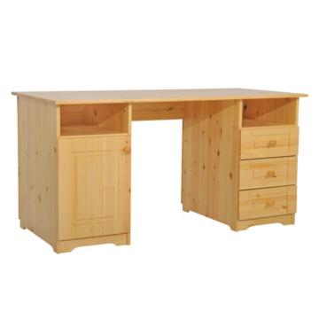 MARTIN 1 ajtós, 3 fiókos fenyő iróasztal 77x150x70 cm