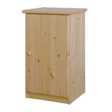 CSANÁD 1 ajtós, keskeny fenyő komód 53x90x49 cm