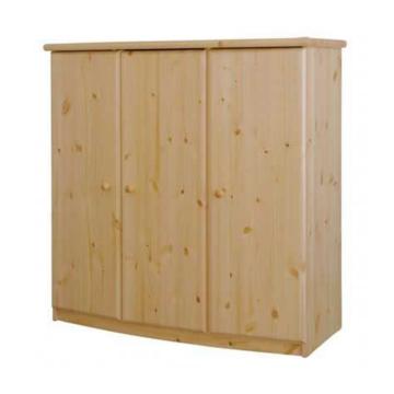 CSANÁD íves, 3 ajtós, magas, polcos komód 129x128x56 cm