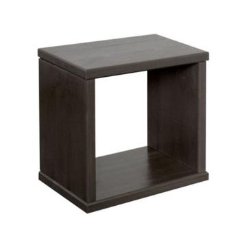 LEXA négyzet alakú, fenyő falipolc 25x25x14 cm