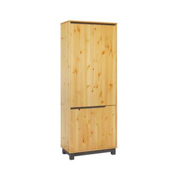 LEXA 4 ajtós, akasztós fenyő szekrény 195x74x40 cm