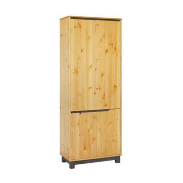 LEXA 4 ajtós, polcos fenyő szekrény 195x74x40 cm