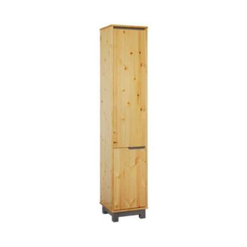 LEXA 1+1 ajtós polcos, keskeny fenyő szekrény 195x39x40 cm