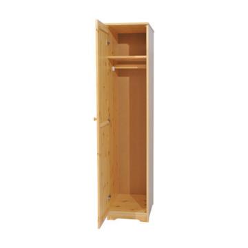 BALÁZS 1 ajtós, akasztós, jobbos fenyő szekrény 186x41x60 cm