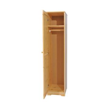 BALÁZS 1 ajtós, akasztós, balos fenyő szekrény 186x41x60 cm