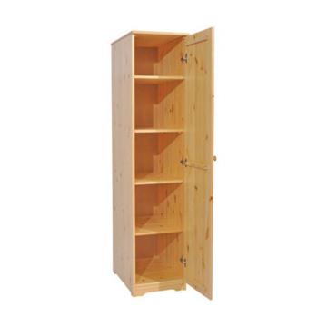 BALÁZS 1 ajtós, polcos, balos fenyő szekrény 186x41x60 cm