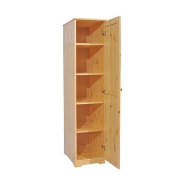 BALÁZS 1 ajtós, polcos, jobbos fenyő szekrény 186x41x60 cm
