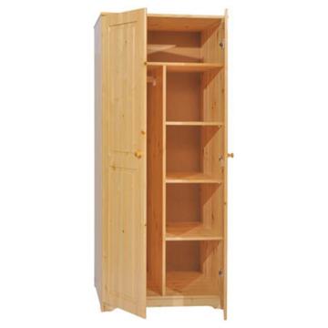 BALÁZS 2 ajtós, akasztós, válaszfalas fenyő szekrény 186x81x60 cm