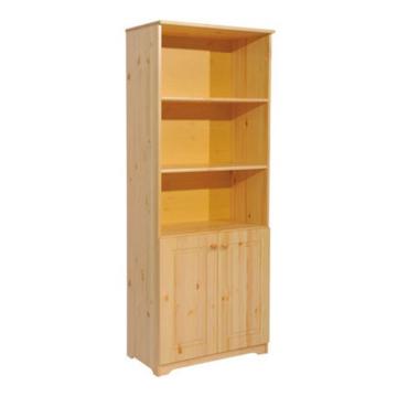 BALÁZS 2 ajtós, nyitott fenyő szekrény 186x74x40 cm